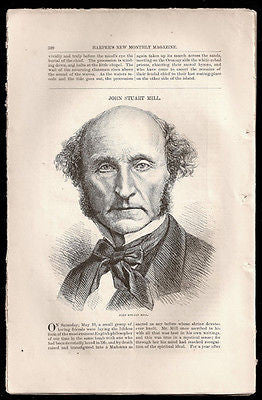 John Stuart Mill Article 1873 English Philosopher Suffrage Freedom of Speech