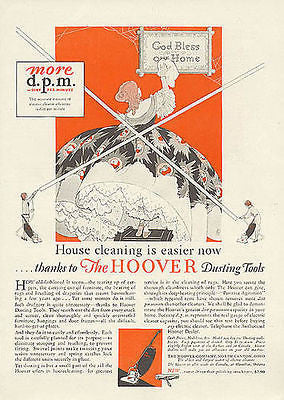 Hoop Skirt Lace Petticoats Hoover 1928 Housecleaning Graphic Arts Illustration AD - Paperink Graphics