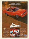 1975 Ford MUSTANG II Convertible Sport Car AD - Paperink Graphics