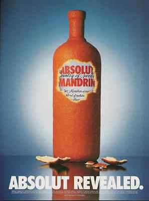 Absolut Mandrin Vodka Ad Revealed Peeled Orange 2000 Ad