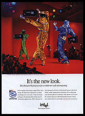 Bunny People Model Intel Pentium II Computer Processor 1997 Photo Ad