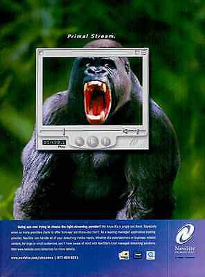 GORILLA Navisite Streaming 2000 Going APE Ad - Paperink Graphics
