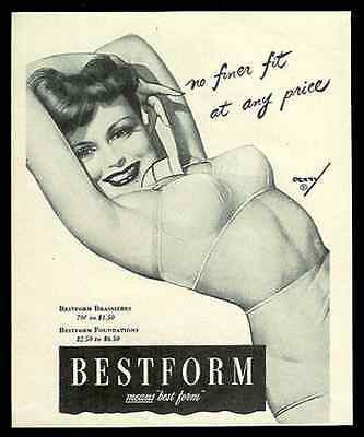 Bestform Brassiers Print Ad Petty Sexy Pin-Up Bestform Sexy Bra Advert 1944