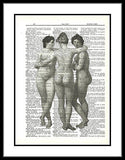 Women Three Graces Dictionary Art Print Vintage Upcycled ladies011
