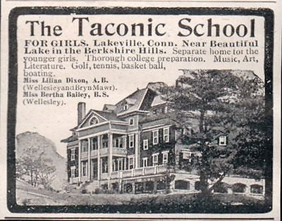 Girls Taconic School Lakeville Connecticut Berkshires 1907 AD
