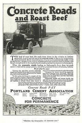 Concrete Roads Stockyard Truck Portland Cement 1918 AD - Paperink Graphics