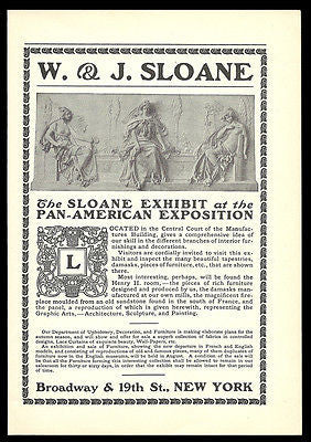 Pan American Exposition AD 1901 Sloane Exhibit W & J Sloane NYC Furniture Design