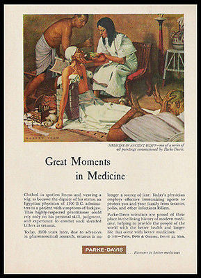 Medicine in Ancient Egypt 1959 Robert Thom Print Ad