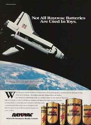 Endeavour Space Shuttle Premier Flight 1992 AD Rayovac Battery Paperink Graphics