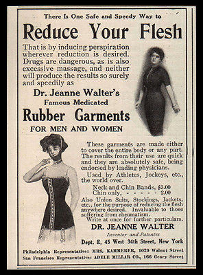 Rubber Garments AD 1912 Rubber Weight Loss Dr Jeanne Walter Photo Illustrated