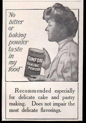 Rumford Baking Powder Housewife 1910 Print AD - Paperink Graphics