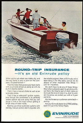 Evinrude Outboards Electric Starter & Pullcord Auto & Manual Choke Photo 1963 Ad