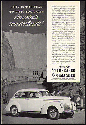 Studebaker Commander Cruising Sedan 1940 Photo Ad Boulder Dam