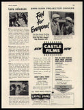 Abbott & Costello Film 8mm 16 mm Castle Films Promo 1950 Ad