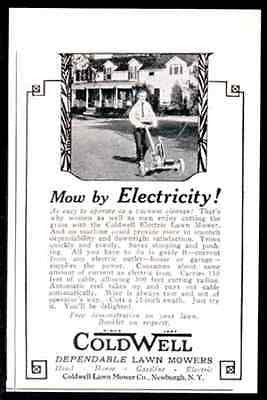 Coldwell Lawn Mower Electric LAWN MOWER 150 ft Cable  Photo 1927 AD - Paperink Graphics
