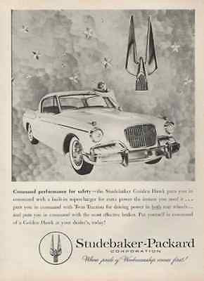 Studebaker Golden Hawk 2 Door Logo 1957 Automobile Photo AD Studebaker Packard