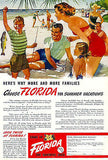 1949 FLORIDA Beach  Vacation Travel Tourism Promo Print AD