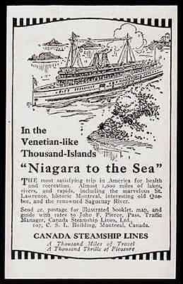 Canada Steamship Lines Niagara to the Sea 1914 Print AD - Paperink Graphics