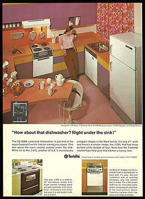 General Electric GE Textolite Applicances Kitchen Decor Ad