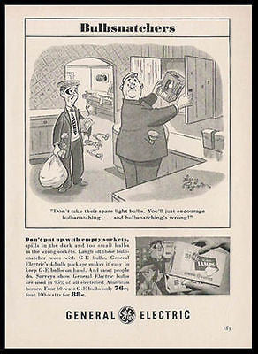 Thieves Robbers Burglars Comic Art Larry Reynolds 1955 Ad
