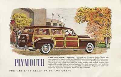 Plymouth Station Wagon Wood Panels 1949 AD