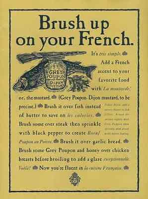 Grey Poupon Mustard Great Kitchen 1992 Art AD - Paperink Graphics