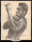 Ali Boxing Champion Sports Cartoon Caricature Newspaper Clipping - Paperink Graphics