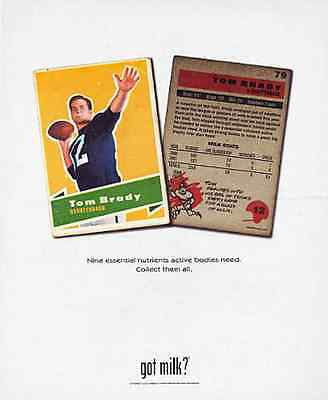 Tom Brady got milk? Football Player Quarterback 2002 Ad