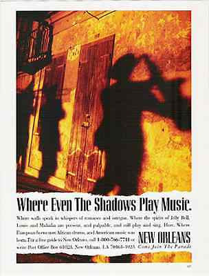 Shadow Spirits Parade NOLA 1992 AD Jellie Roll Louie Mahalia New Orleans AD