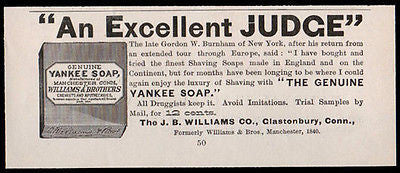 Yankee Shaving Soap Williams Glastonbury CT 1886 AD