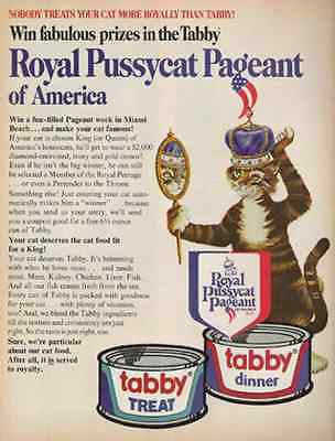 Mirror Image Cat Crown Pussycat Pageant 1972 Tabby Ad