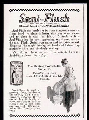 Closet Bowl Cleaner Sani-Flush 1914 Print AD