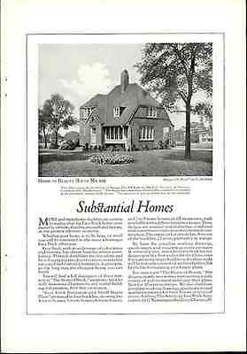 Architect Floyd Yewell Brick Home Denver 1922 Antique Architecture - Paperink Graphics