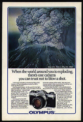 Mount St. Helens Volcano Erupts 1980 Disaster Photo AD Olympus Camera