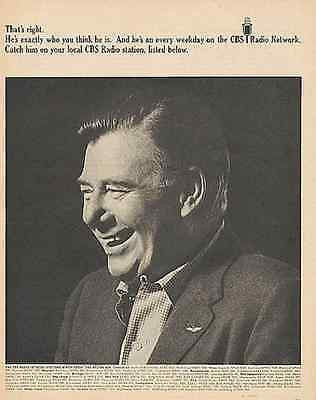 Arthur Godfrey 1967 CBS Radio Network Photo AD