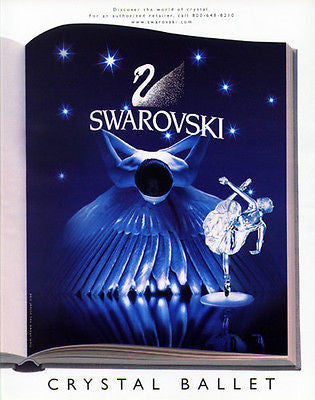 Ballerina Ballet 2000 Swarovski Ad Graphic Art Crystal Glass AD - Paperink Graphics