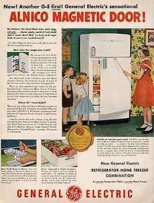 Magic Wand Magician GE Refrigerator 1950 AD Mid Century Kitchen Appliance