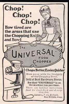Food Chopper Grinder Chop Universal  Illustrated 1903 AD