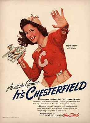 Chesterfield Girl of the Month 1941 AD Angela Cummins - Paperink Graphics