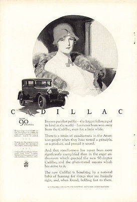 Flapper 1926 Cadillac Magazine AD McClelland Barclay Artwork