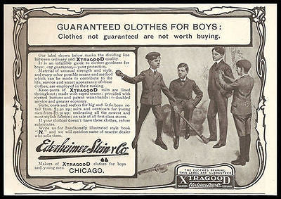 Baseball Practice Xtragood Boys Clothes 1904 Ad Ederheimer Stein Co - Paperink Graphics