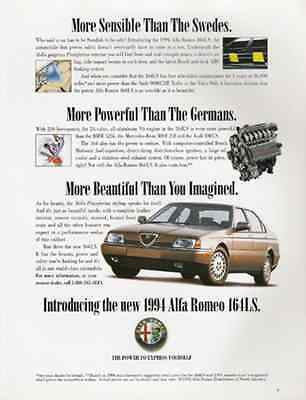 1994 Alfa Romeo 164LS 1993 Automobile European Car AD - Paperink Graphics