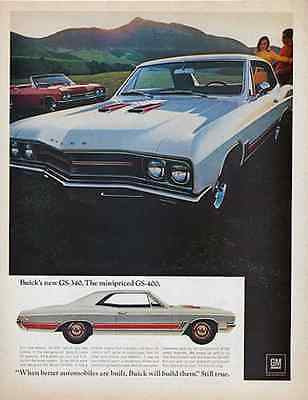 1967 Buick GS-340 Classic Sports Muscle Car Chrome Photo Illustration Auto AD - Paperink Graphics