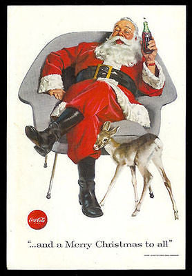 SANTA Claus Herman Miller style Chair 1956 Eames Era COKE Soda Ad