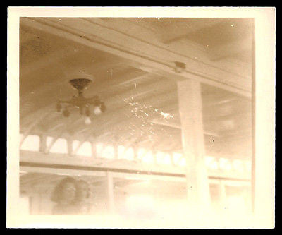 Abstract Photo Ceiling Light Fixture Bulbs Beams Geometric Design Obscure Faces - Paperink Graphics