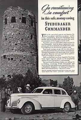 Studebaker Commander Cruising Sedan Navaho Tower 1940 Automobile Photo Illu AD