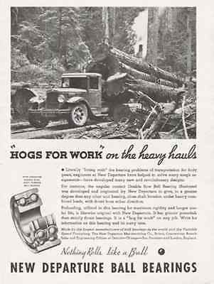 Logging Truck Forest 1935 AD Departure Ball Bearings - Paperink Graphics
