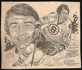 Brad Park Hockey Bruins Sports Caricature Newspaper Clip 70's - Paperink Graphics