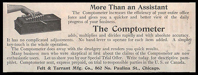 Comptometer 1908 Ad Office Machine Felt & Tarrant Chicago