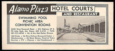 Alamo Plaza Hotel Courts Little Rock Arkansas Pool 1964 Roadside Photo Ad Travel - Paperink Graphics